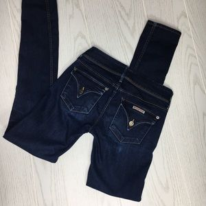 Hudson Dark Wash Skinny Jeans